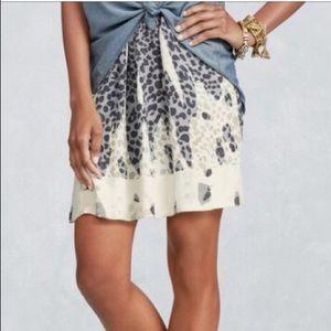 Cabi Bella leopard print skirt with pockets